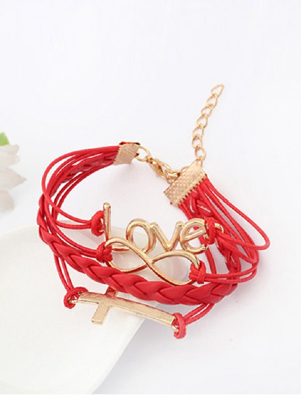 Korean version Romantic Password love Cross Varm Salg Armbånd