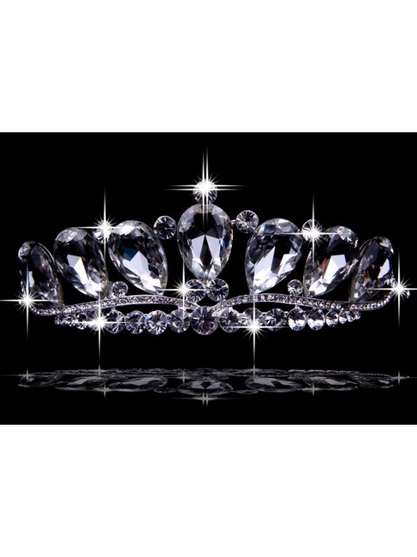 Very Graceful Alloy With Czech Rhinestones Wedding Headpieces