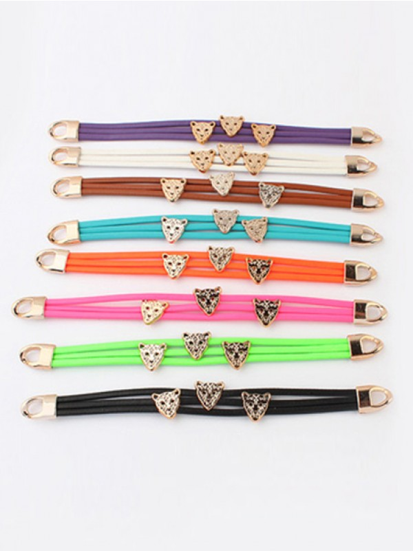 Vesten Candy colors Summer All-match Leopard head Varm Salg Armbånd